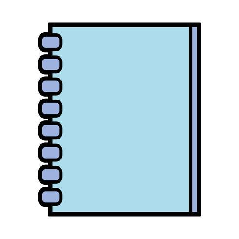 cahier papiers design objet à écrire vecteur
