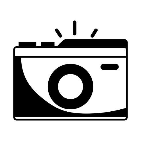 contour appareil photo numérique pour prendre une photo d'art vecteur