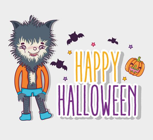 Joyeux dessins d'halloween vecteur