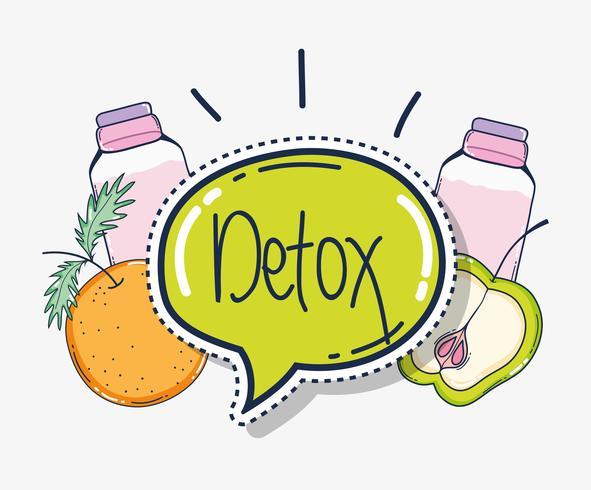 Jus de fruits detox vecteur