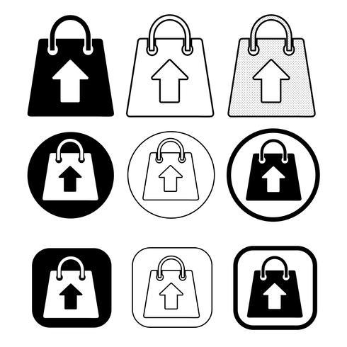 Icône de sac de shopping vecteur