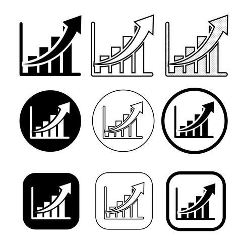 Ensemble simple d'icône de diagramme et graphique vecteur
