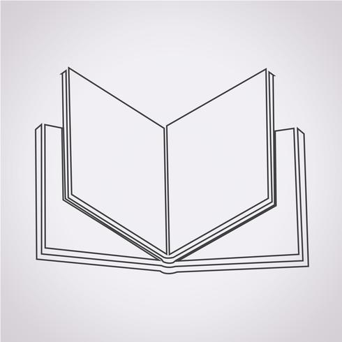 Livre symbole symbole signe vecteur