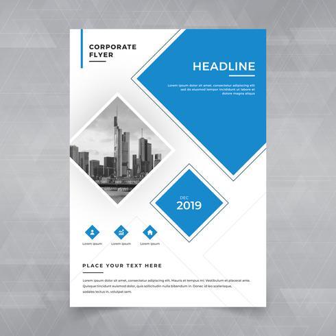 Brochure, affiche, flyer, brochure, magazine, design de la couverture avec un espace pour l'arrière-plan photo, modèle d'illustration vectorielle au format A4 vecteur