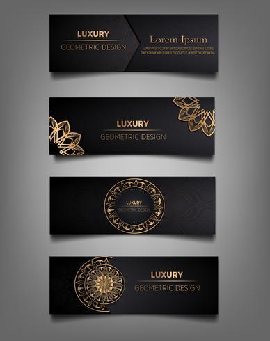 collection de bannière de luxe vecteur