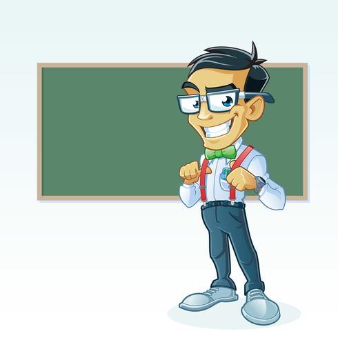 Professeur devant la table vecteur