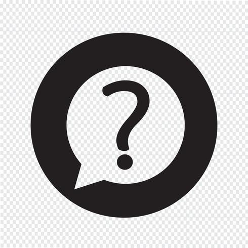 Icône de signe de point d'interrogation vecteur
