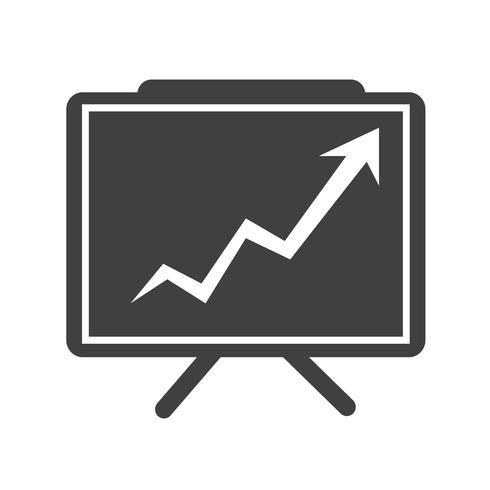 Icône de présentation graphique croissante vecteur