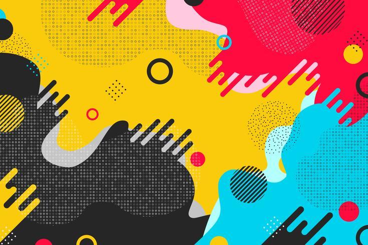 Fond coloré abstrait forme design. Vous pouvez utiliser pour les annonces, les affiches, les illustrations, le design moderne. vecteur
