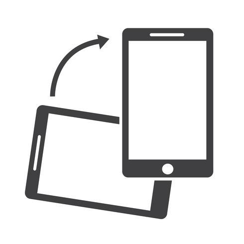 Icône Rotation Smartphone vecteur