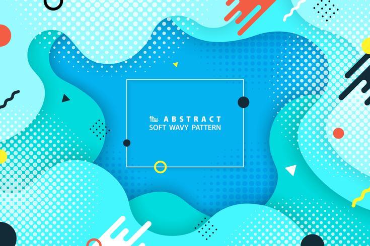 Conception de formes géométriques colorées abstraites d'arrière-plan moderne. Vous pouvez utiliser pour le modèle de fantaisie de web, annonce, affiche, illustration, imprimer. vecteur