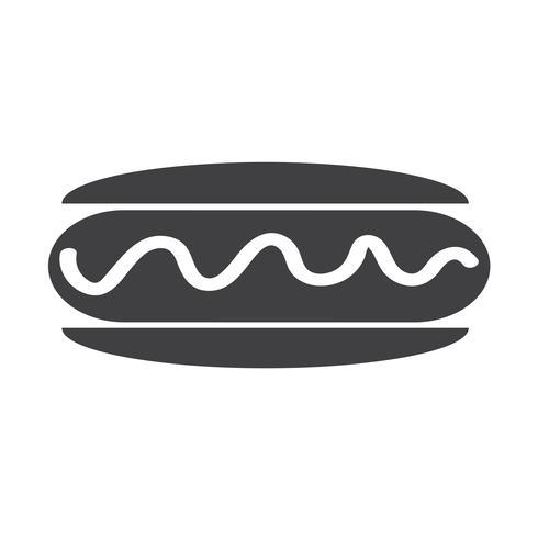 saucisse, hot dog, icône vecteur