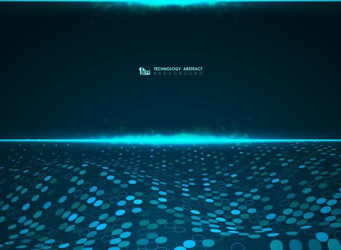 Abstrait technologie bleu cercle futuriste de fond du système de données volumineuses. illustration vectorielle eps10 vecteur
