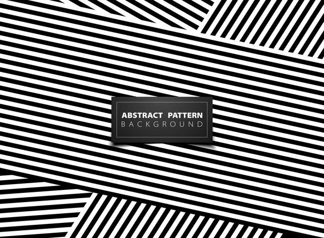 Abstrait noir et blanc op art stripe modèle de conception. illustration vectorielle eps10 vecteur