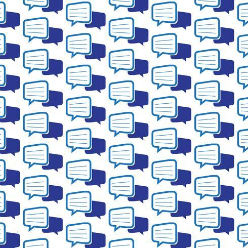 Motif de fond parler icône de discussion bulle vecteur