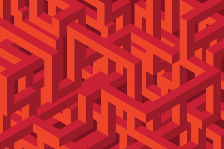 Fond isométrique sans couture 3D vecteur