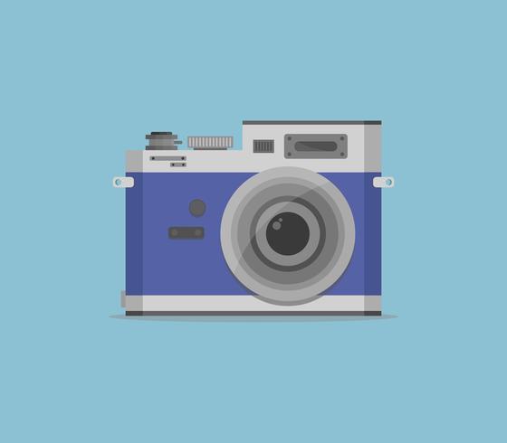 Icône de caméra sur fond blanc vecteur