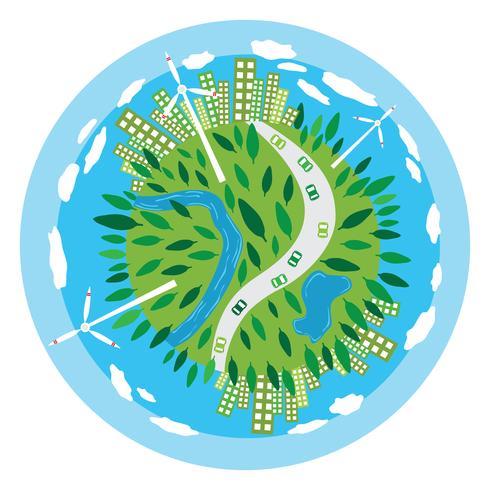 Vecteur de la planète de la durabilité