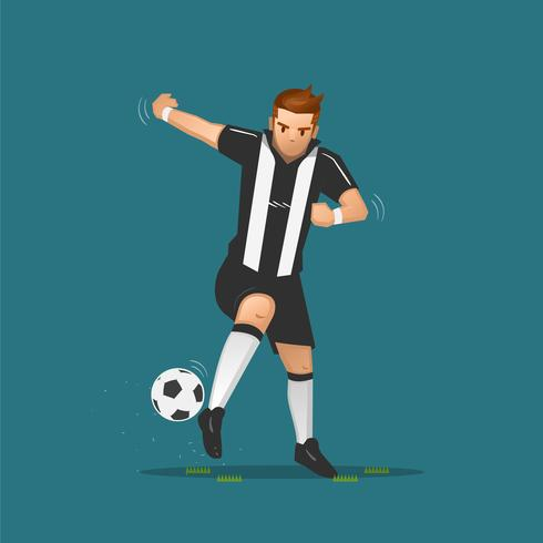 dribble de dessin animé de football vecteur