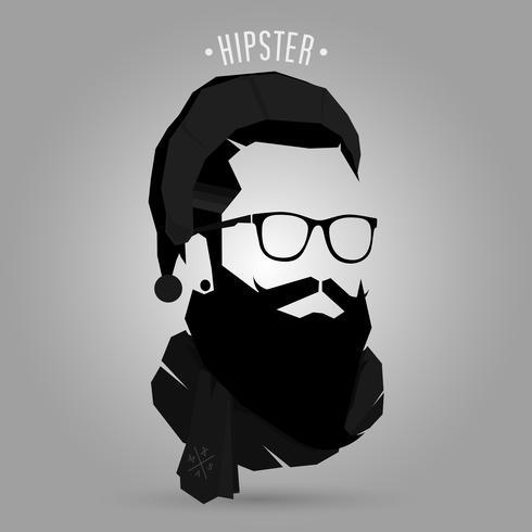 Santa hipster symbole vecteur