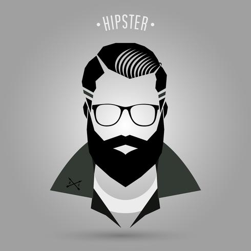 Hipster Hommes Style 02 vecteur