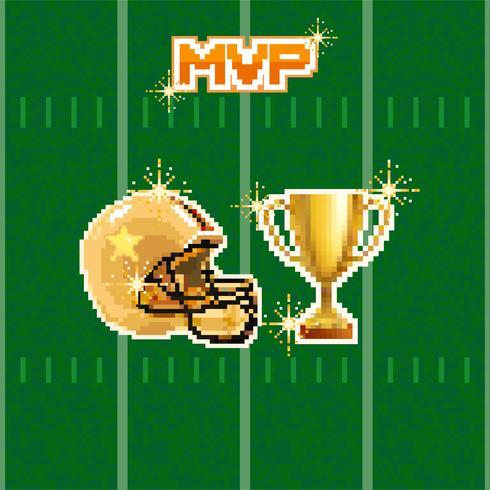 pixel de football américain vecteur