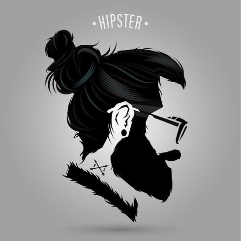 signe indépendant de hipster vecteur