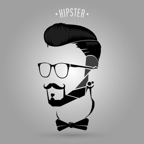 symbole de tendance hipster vecteur