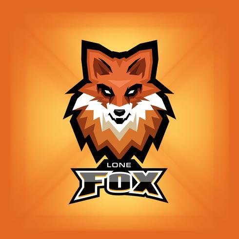 Logo tête de renard vecteur