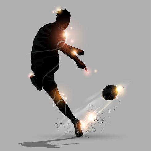 séance de foot abstraite vecteur