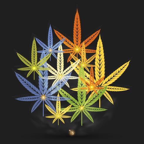 feuilles de cannabis abstraites vecteur