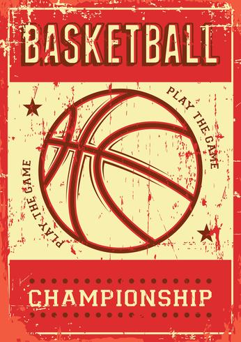 Basket-ball Football Sport Rétro Pop Art Affiche Signalisation vecteur