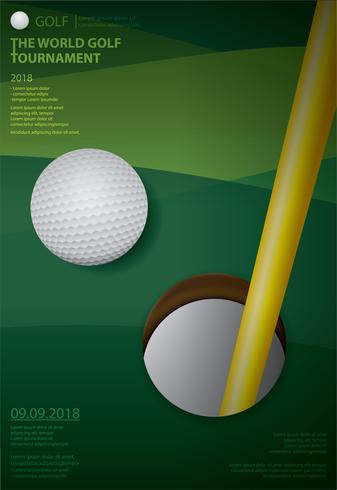 Illustration vectorielle de Poster Golf Championship vecteur