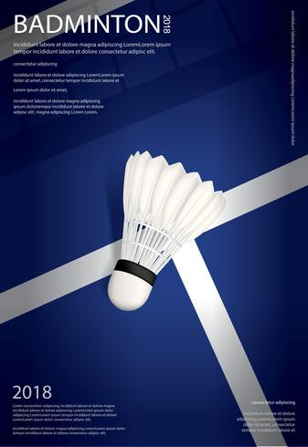Illustration vectorielle de badminton championnat affiche vecteur