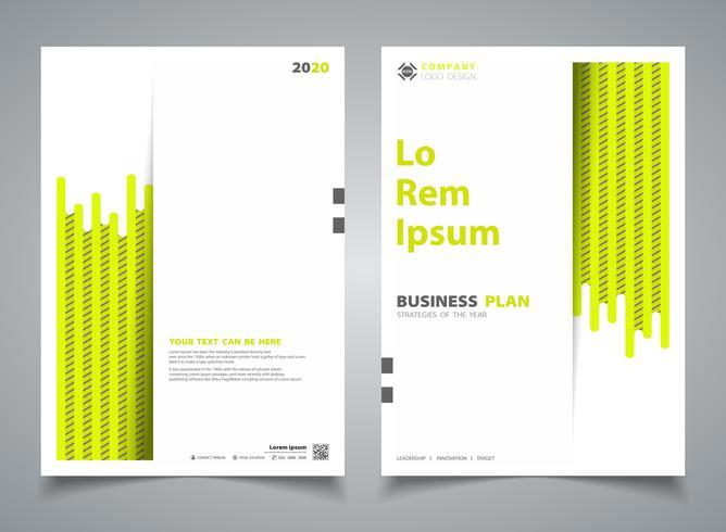 Brochure abstraite couleur verte nouvelle bande modèle de conception ligne décoration. illustration vectorielle eps10 vecteur