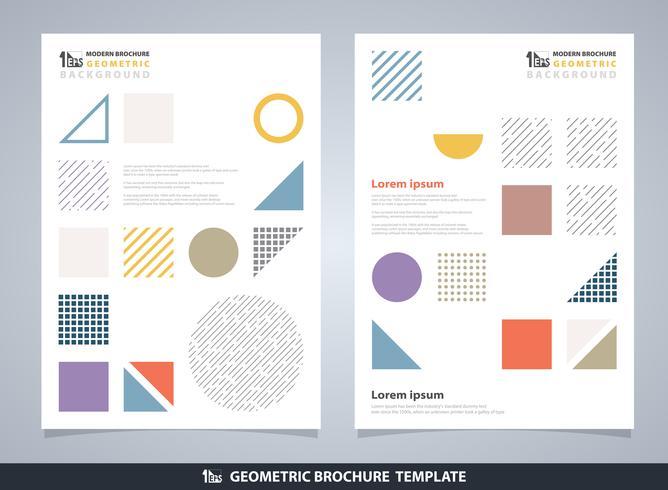 Brochure géométrique colorée abstraite. Design moderne du motif d'éléments géométriques. vecteur