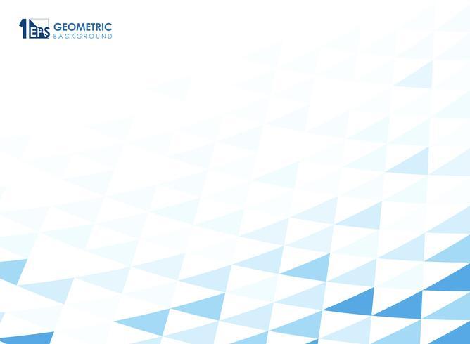 Abstrait motif géométrique bleu. vecteur