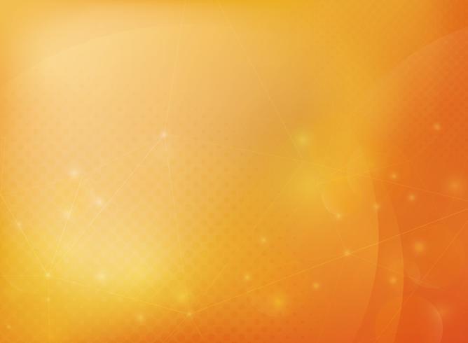 Fond abstrait bokeh de technologie orange dégradé. vecteur