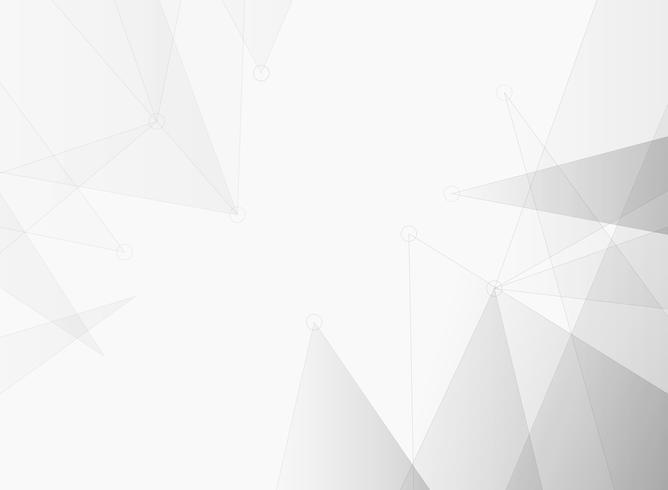 La technologie future futuriste de gris dégradé de triangle connecte le fond de l'abstraction. vecteur