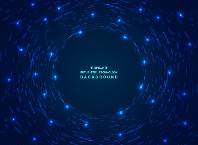 Fond de technologie bleu dégradé futuriste chaos de motif géométrique. vecteur