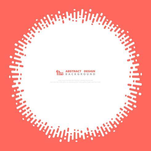 Couleur de cercle rose abstrait vectoriel cercle ondulé. illustration vectorielle eps10