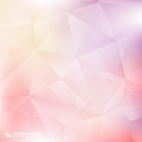 Modèle de polygone abstrait dégradé de couleur douce fond rose et violet. Vous pouvez utiliser pour poster, présentation, annonce, couverture, espace de copie de texte, rapport. vecteur