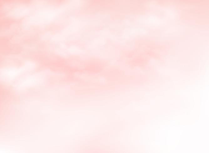 Clair ciel de corail vivant rose avec fond de nuages. Vous pouvez utiliser pour les annonces d'heures d'été, les affiches, les œuvres d'art, les impressions, le papier de design nature. vecteur