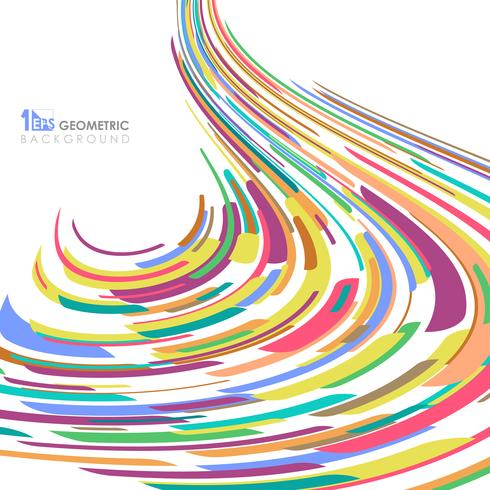 Résumé de fond ligne colorée ligne motif maille. vecteur