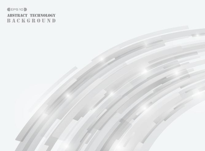 Abstrait technologie futuriste bande grise ligne couverture de fond. vecteur