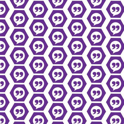 Icône de fond motif Blockquote vecteur