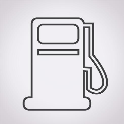 Icône de pompe à essence, icône de station d'huile vecteur