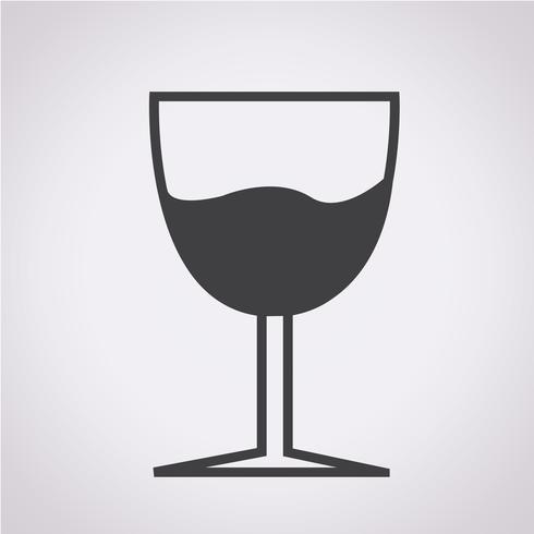 Verre boisson icône vecteur