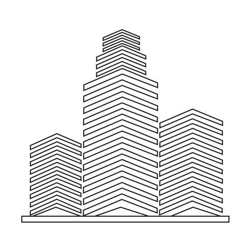 Icône d'immeuble de bureaux vecteur