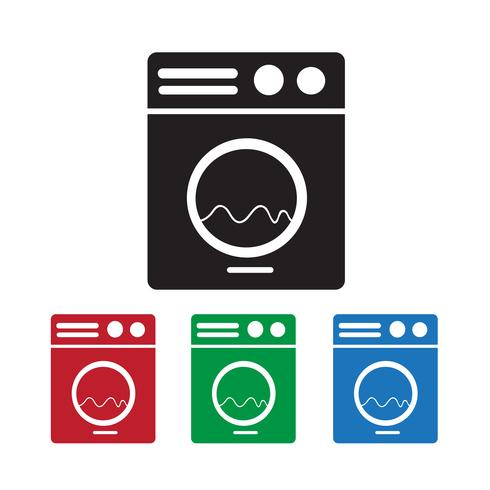Icône de la machine à laver vecteur